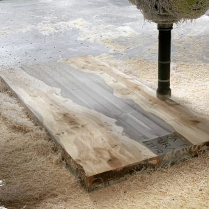 Bespoke Yew Resin Table 02